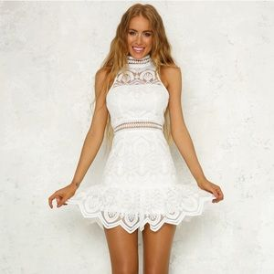 White cocktail party dress or special occasion